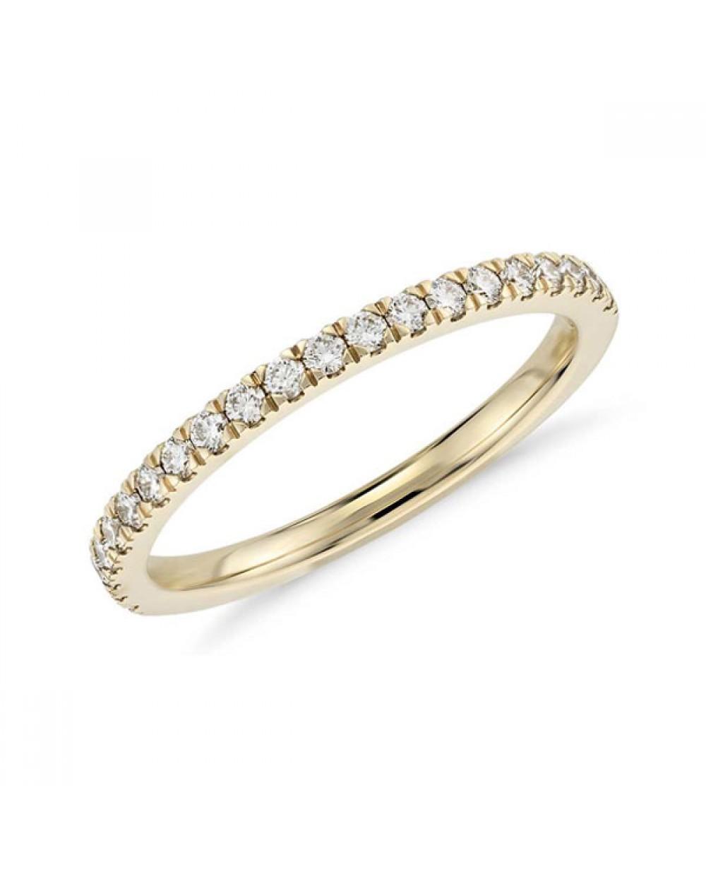 Mais Imagens. Meia Aliança em Ouro 18K e Diamantes lapidação brilhante 7b733145b2