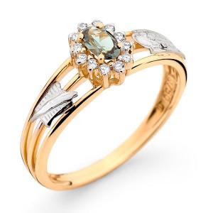 Anel Formatura em Ouro 18K com Pedra Natural Turmalina e Diamantes