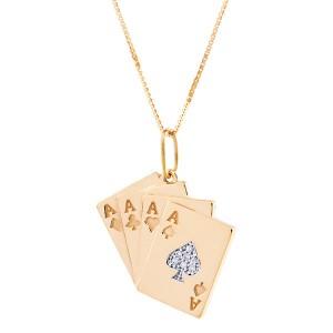 Colar Baralho em Ouro 18K com Diamantes