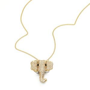 Colar em Ouro 18K com Pedra Safira e Diamantes