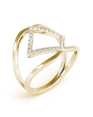 Anel em Ouro 18K e Diamantes
