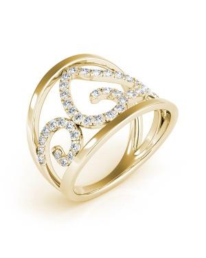 Anel Coração em Ouro 18K e Diamantes