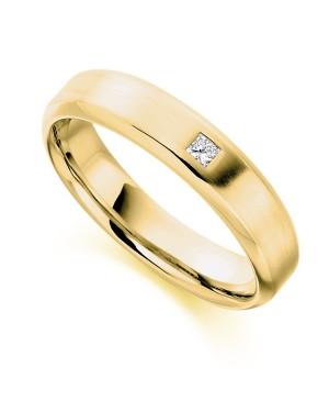 Aliança Masculina em Ouro 18K e Diamante