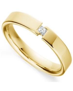 Aliança em Ouro 18K e Diamante