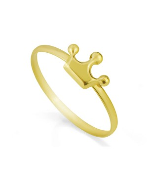 Anel Coroa em Ouro 18K