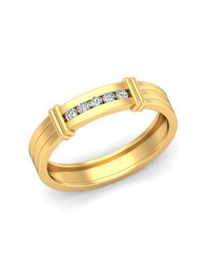 Anel Masculino em Ouro 18K e Diamantes