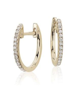 Brinco Argola em Ouro 18K com Diamantes