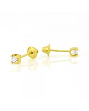 Brinco Cartier em Ouro 18K com Diamante 4 Pontos