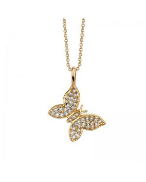 Colar Borboleta em Ouro 18K e Diamantes