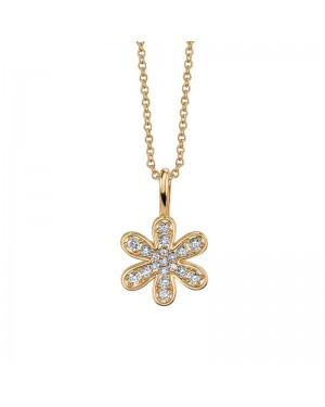 Colar Flor em Ouro 18K e Diamantes