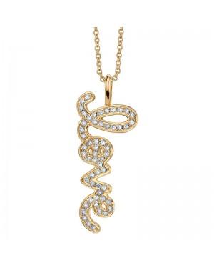 Colar Love em Ouro 18K e Diamantes