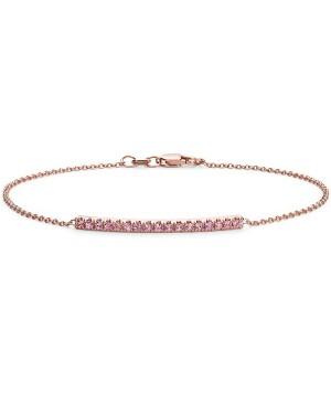Pulseira em Ouro Rosé 18K e Safiras Pink