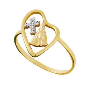 Anel em Ouro 18K com Diamantes