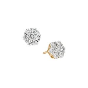 Brinco Chuveiro em Ouro 18K com Diamantes