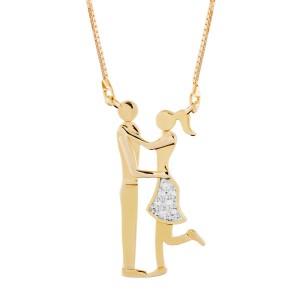 Colar Namorados em Ouro 18K e Diamantes