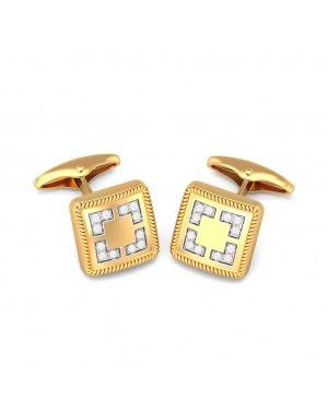 Abotoadura em Ouro 18K e Diamantes