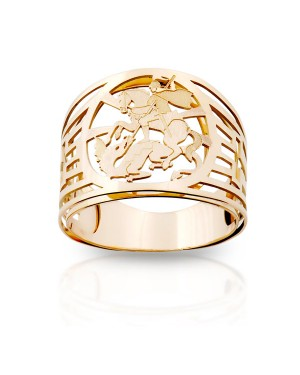 Anel São Jorge em Ouro Rosé 18K