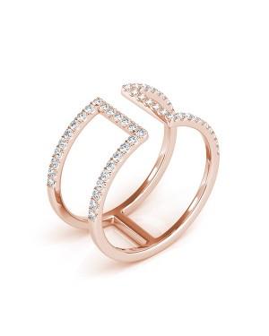 Anel em Ouro Rosé 18K e Diamantes