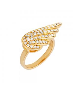 Anel Asa Anjo em Ouro 18K e Diamantes