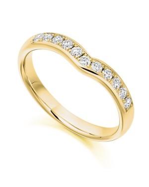 Aliança em Ouro 18K e Diamantes