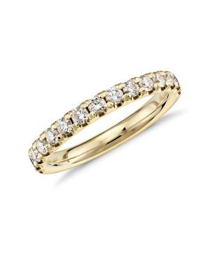 Meia Aliança em Ouro 18K e Diamantes
