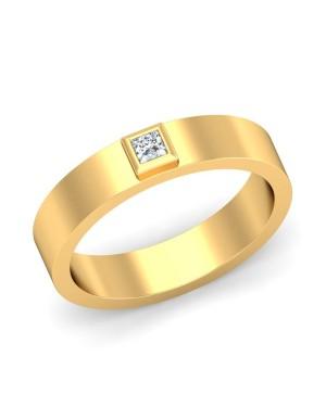 Anel Masculino em Ouro 18K e Diamante