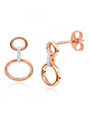 Brinco em Ouro Rosé 18K e Diamantes