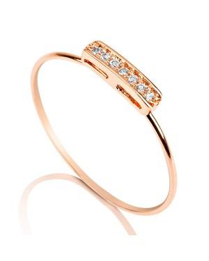 Anel em Ouro Rosé 18K com Diamantes
