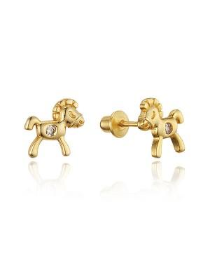 Brinco Cavalinho em Ouro 18K e Diamantes