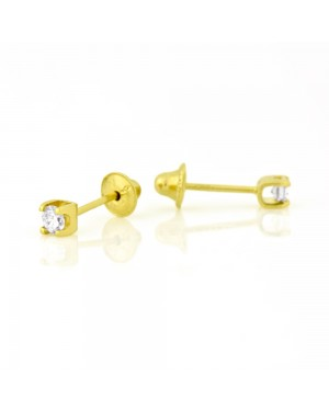 Brinco Cartier em Ouro 18K com Diamante 2 Pontos