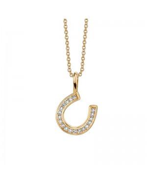 Colar Ferradura em Ouro 18K e Diamantes