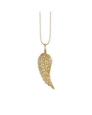Colar Asa Anjo em Ouro 18K e Diamantes