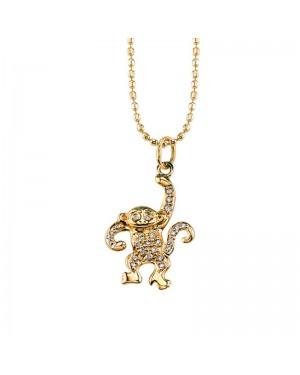 Colar Monkey em Ouro 18K e Diamantes