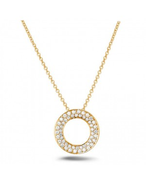 Colar com Pingente Esfera em Ouro 18K e Diamantes