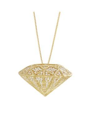 Colar em Ouro 18K com Diamantes