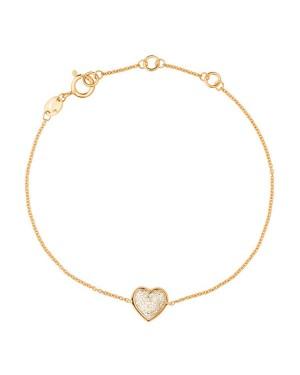 Pulseira Coração em Ouro 18K e Diamantes